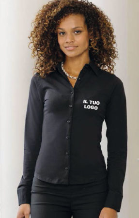 d085b0ad77 Camicia donna elasticizzata manica lunga - Italy Grafica - Canicattì ...